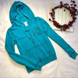 Pink Victoria's Secret hoodie sweater blue size M